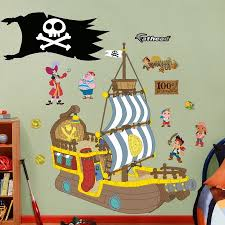 Fathead Princess Wall Decor by Disney Jake U0026 The Neverland Pirates Bucky Pirate Ship Realbig