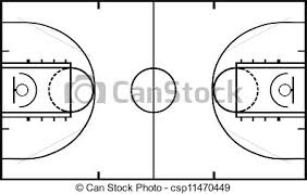 Basketball court isolated on white eps vector Search Clip Art