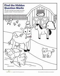 First Grade Punctuation Nature Worksheets Question Mark Coloring Page