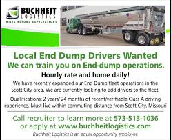 Local End Dump Drivers, Buchheit Logistics