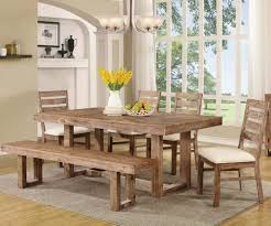 4 Seater Cheap Rustic Dining Room Chairs And Also Wooden Bench