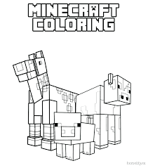 Minecraft Steve Coloring Pages Story Mode With For Kids Best
