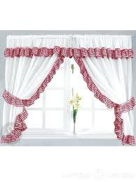 White Cafe Curtains Target by Red And White Curtains U2013 Teawing Co