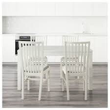 Ikea Vilmar Chair Assembly by Norrnäs Bjursta Table And 4 Chairs White Isunda Grey 140 Cm Ikea