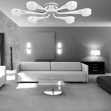 weiße led deckenleuchte 6 flammig wohnzimmer deckenle dimmbar gx53