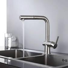 einhand ausziehbarer edelstahl spülbecken wasserhahn mit brause beste küchenarmaturen homelody