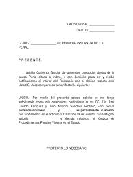 Carta De Instrucción De Fe De Hechos Descargar Ejemplo PDF