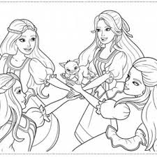 Barbie And Three Musketeers Coloring Pages Swear Together