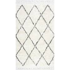 nuLOOM Fez Shag Natural 8 ft x 10 ft Area Rug SPRE14A 8010 The