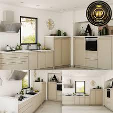 moderne landhausküche ariane winkelküche küchenzeile l form grifflos beige
