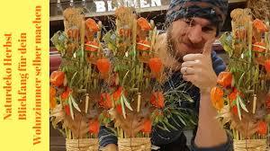 naturdeko für den herbst blickfang für dein wohnzimmer mit schilfgrass selber machen diy