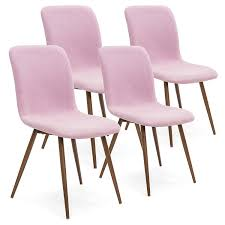 Amazon.com - Best Choice Products Set Of 4 Mid-Century Modern Dining ... Pink Ding Chairs Modern Room Living Room Fniture Inspiration Ikea Awesome Velvet Chair Ottoman Blush Retro Diamond Back Brushed Kitchen Ipirations Design And Decorating For This Years Tov Fniture Rocco Tovd6187 Bright With White Plastic And Relax Space Stock Delta Children Princess Crown Kids Table Set With Storage How I Found My Dream New House Chairs Wooden Grey Bookshelf Tulips In