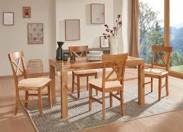 hochwertige esszimmermöbel stühle 2er set wildeiche creme