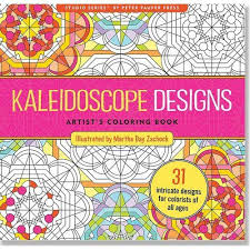 Kaleidoscope Designs Adult Coloring Book 31 Stress Relieving Studio By