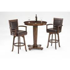 Hillsdale Furniture Ambassador Rich Cherry 42-Inch High Pub Table And Two  Bar Stools