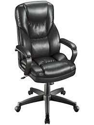 Fosner High Back Chair Instructions by Realspace Fosner High Back Bonded Leather Chair Black Home And