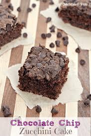 Chocolate Chip Zucchini Cake Zucchini keeps this chocolate cake moist and scrumptious via