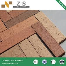 different size and color 60 240mm clay facade extruded klinker