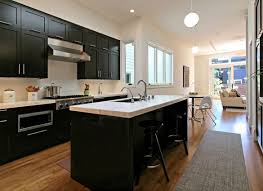 Fabuwood Cabinets Long Island by Kitchen Ideas Dark Kitchen Cabinets And Light Wood Floors