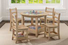 ECR4Kids Sit N' Stash Round Table And Four Chairs - SOAR Life Products Kitsch Round Glass Table Set Of 4 Chairs Dfs Ireland Mcombo Mcombo Ding Side 4ding Clear Ingatorp And Chairs White Ikea Cally Modern Table With La Sierra Fniture Grindleburg 60 Woodstock Carisbrooke Barker Stonehouse Dayton 48 Upholstered Shop Hlpf5cap 5 Pc Small Kitchen Setding Hanover Traditions 5piece In Tan A Jofran Simplicity Chair Slat Back Pier 1 W Aptdeco Rovicon Lulworth Pedestal