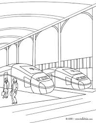 Train Station Scene Coloring Page
