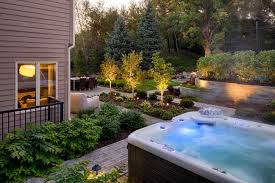 Contemporary Family Retreat | Ground One Hot Tub Patio Deck Plans Decoration Ideas Sexy Tubs And Spas Backyard Hot Tubs Extraordinary Amazing With Stone Masons Keys Spa Control Panel Home Outdoor Landscaping Images On Outstanding Fabulous For Decor Arrangement With Tub Patio Design Ideas Regard To Present Household Superb Part 7 Saunas Best Pinterest Diy Hottub Wood Pergola Wonderful Garden