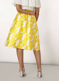 yellow floral full skirt dorothy perkins united states