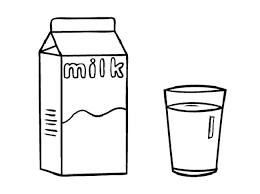 milk clipart black and white