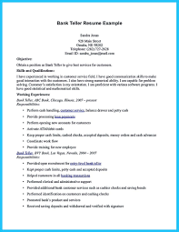 Banking Resume Examples Samples And Bank Teller Example Objectives