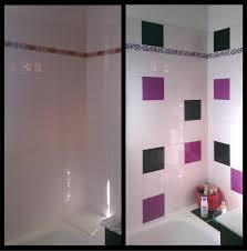 salle de bain mauve stickers sur carrelage salle de bain spitpod