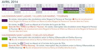 rer e calendrier des travaux du 1e avril au 30 juin 2014