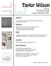Interior Designer Resume For Fresher Design Resume Template