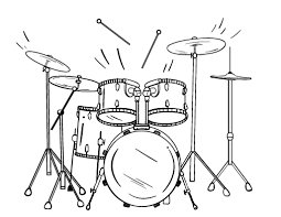 Free Drum Coloring Page