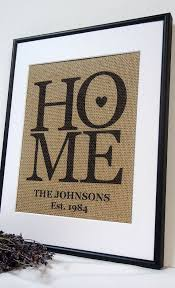 Personalized Burlap Love Housewarming Gift Print Art By Elizabeth