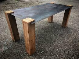 table design industriel plateau acier vitadeco