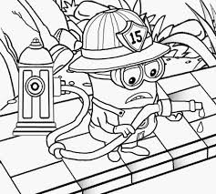 Minions Coloring Pages Firefighter