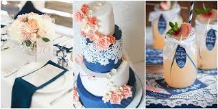 18 Peach And Navy Blue Inspired Wedding Ideas