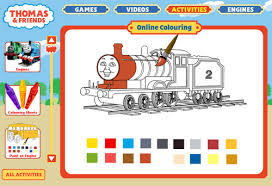 Thomas And Friends Online Colouring Exmaple Of Printable Elements