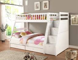 Loft Beds Loft Bed With Storage Stairs White Bunk Beds Stair