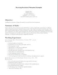 Example Of A Cna Resume For Sample Resumes Samples