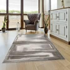 details zu teppich modern abstrakt meliert grau golden rund rechteckig wohnzimmer