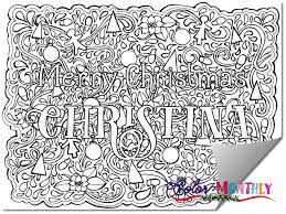 Order Your Custom Name Christmas Coloring Page