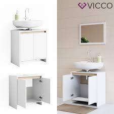 vicco waschbeckenunterschrank weiß sonoma eiche unterschrank badschrank