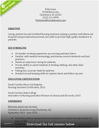 Certified Nursing Assistant Cover Letter New Rn Resume Examples Template 2017 Of