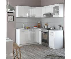 vicco küchenzeile l form rick 167x187cm weiß hochglanz ab