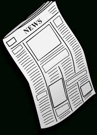 Newspaper Clipart Transparent Background Clipartxtras Within Clip Art No