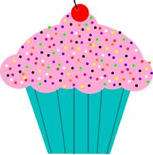 Pink clipart birthday cupcake 10