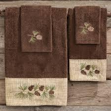 Bear Towels Moose Pine Cone