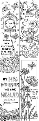Bible Coloring Bookmarks Printable Biblearts Doodle Colouring