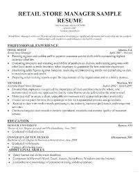 Store Manager Resume Examples Doc Retail Sample Best Automotive
